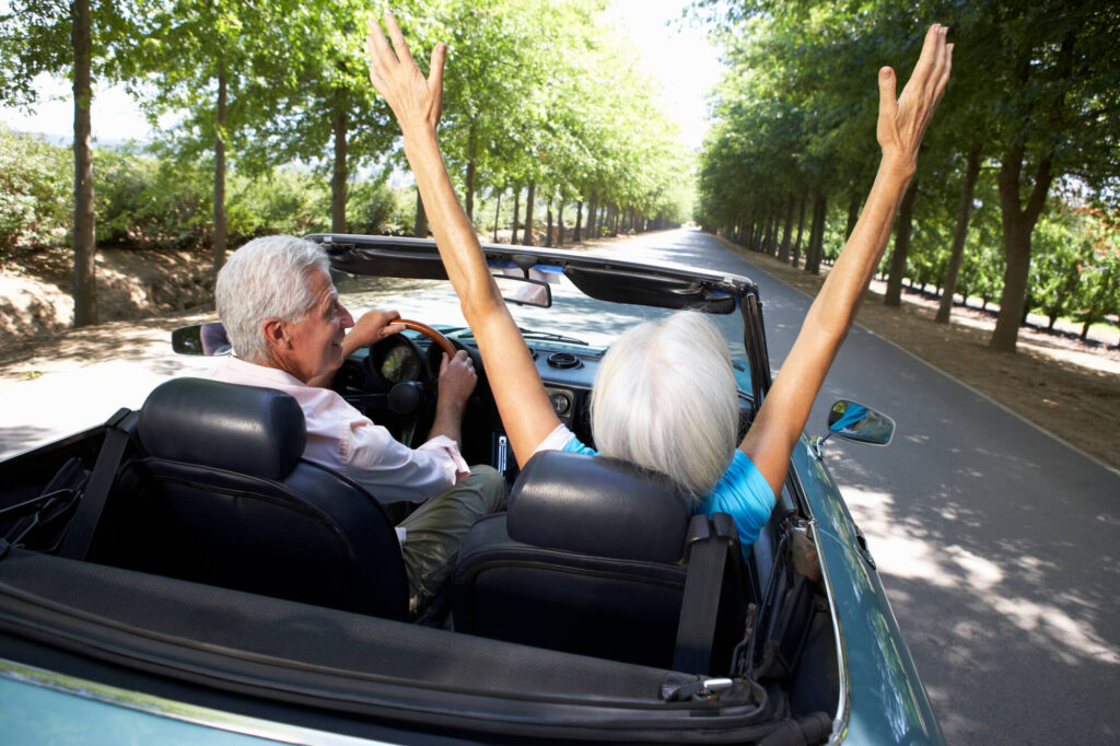 Happy senior couple over 70